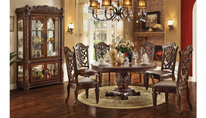 37+ Elegant round 4 piece cherry wood dining table sets Trend