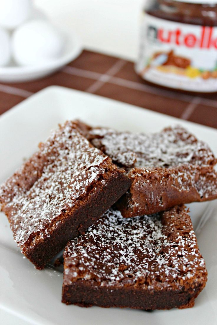 Nutella Brownies made with 2 INGREDIENTS! Yum.