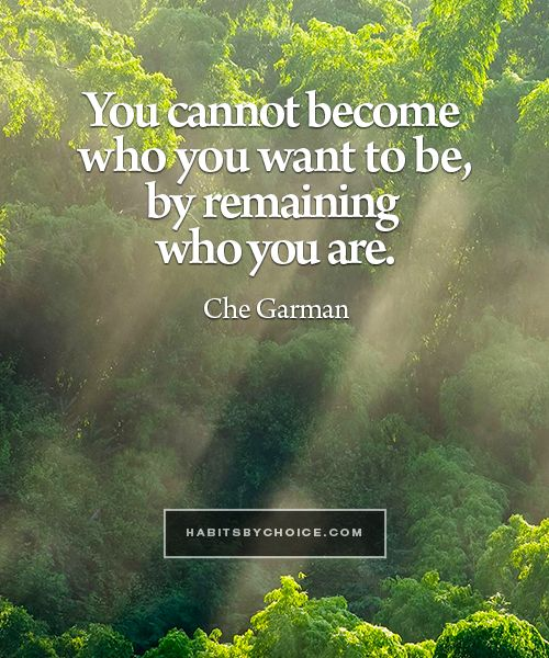 """You cannot become who you want to be, by remaining who you are now."" A pragmatic analysis of desire from Che Garman ."