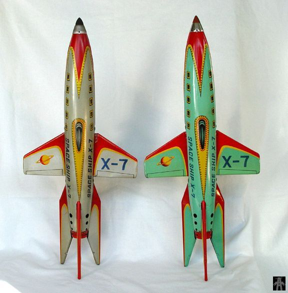 Space Rockets - SPACE SHIP X-7 - MASUDAYA - JAPAN - ALPHADROME ROBOT AND SPACE TOY DATABASE