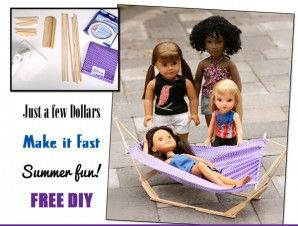 How To Make A Hammock for Dolls | Liberty Jane Doll Clothes Patterns For American Girl Dolls