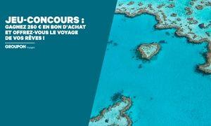 Groupon - Jeu-concours : tentez de gagner un bon d'achat de 250 € à dépenser sur Groupon Voyages ! à Merchandising (FR). Prix Groupon : 0€