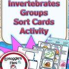 """The """" Invertebrates Groups Sorting Card Activity""""  is design to help your students review, reinforce and assess their knowledge about the main grou..."""