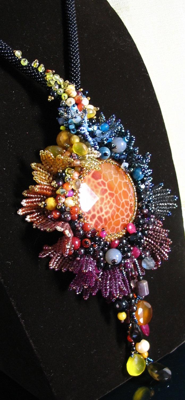 Bloom season change - Necklace. $560.00, via Etsy.