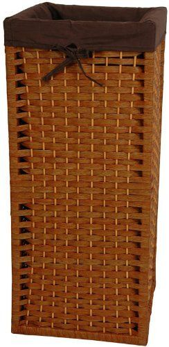 "Natural Fiber Laundry Hamper- HON by ORIENTAL FURNITURE. $59.00. This is a sturdy, light weight, and attractive square shaped basket, tall and narrow, with a 101 practical uses around the home. Throw dog or toddlers toys inside, gloves and scarves, umbrellas and walking sticks. The advantage is there is no lid to get in the way, a simple and very useful home décor accessory. Well crafted from spun plant fiber cord interwoven with ¼"" wood dowel rods on a ligh..."