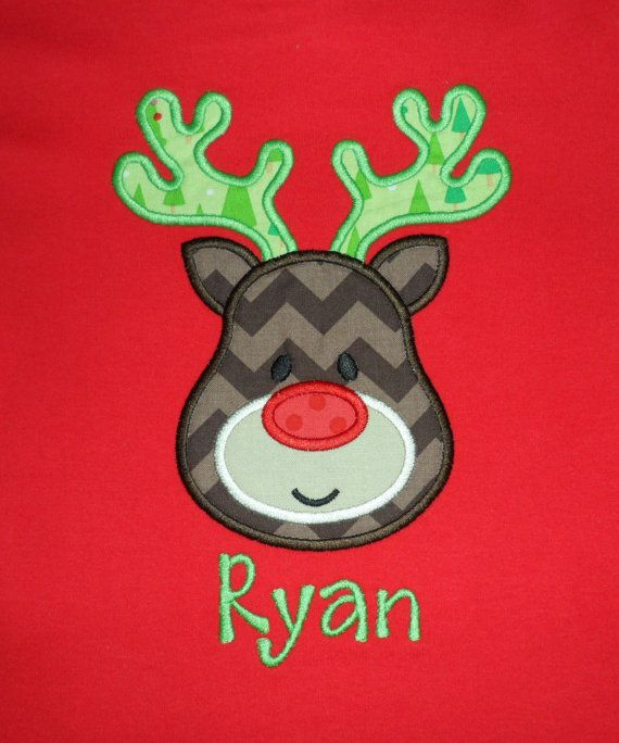 Personalized Christmas Reindeer Shirt for Boys