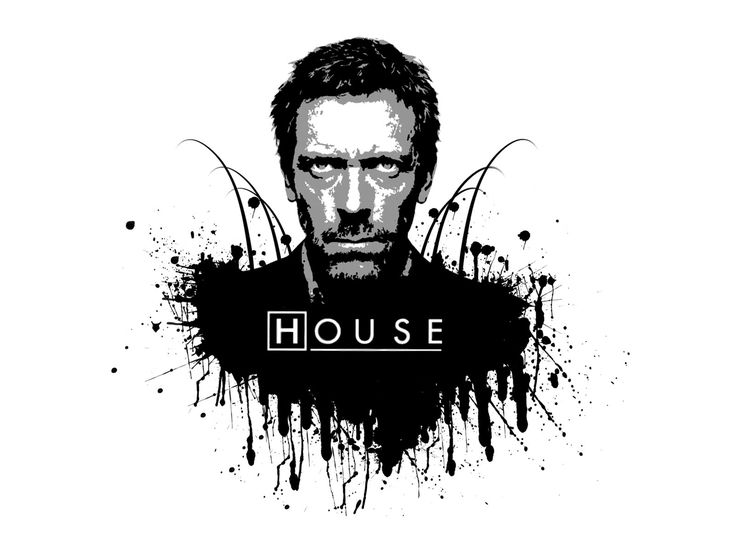 House MD - black and white by Melwasul.deviantart.com on @deviantART