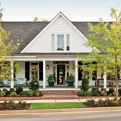 Farmhouse restoration idea house tour house tours front for Farmhouse front porch pictures