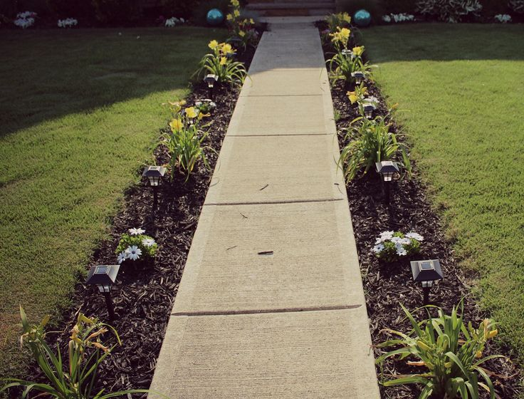 diy sidewalk garden - Sidewalk Design Ideas