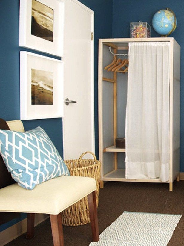 Make The Most Of A Small Dorm Room By Using Curtains Other Places Than The Windows