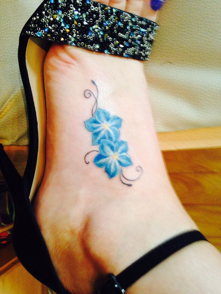 My first tattoo - forget me not flowers to remember loved ones