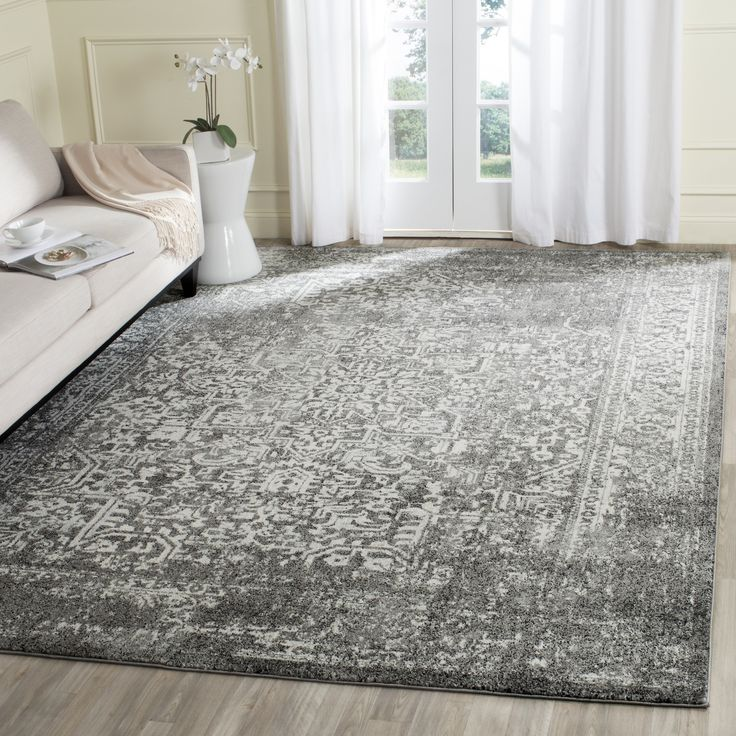 Safavieh Evoke Vintage Oriental Grey Ivory Distressed Rug 9 X 12 By