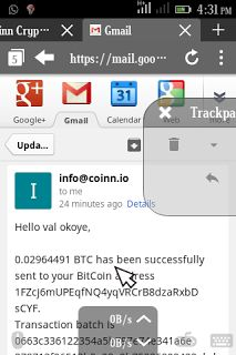 Bitcoin Withdrawal proofs on Coinn.io NOT SCAM  If you use Bitcoin and you do not know what to do with your Coinn you can simply invest it so as to yield maximum returns. Last time I posted about Mining your BTC with coinn tho many joined the system. Thanks to those that joined. I wish to present you with a withdrawal proof made today of $22 Which was sent directly to my BTC wallet.  Now to join this system kindly visit>> HERE TO REGISTER << Register  Click on Deposit. Then select any amount…