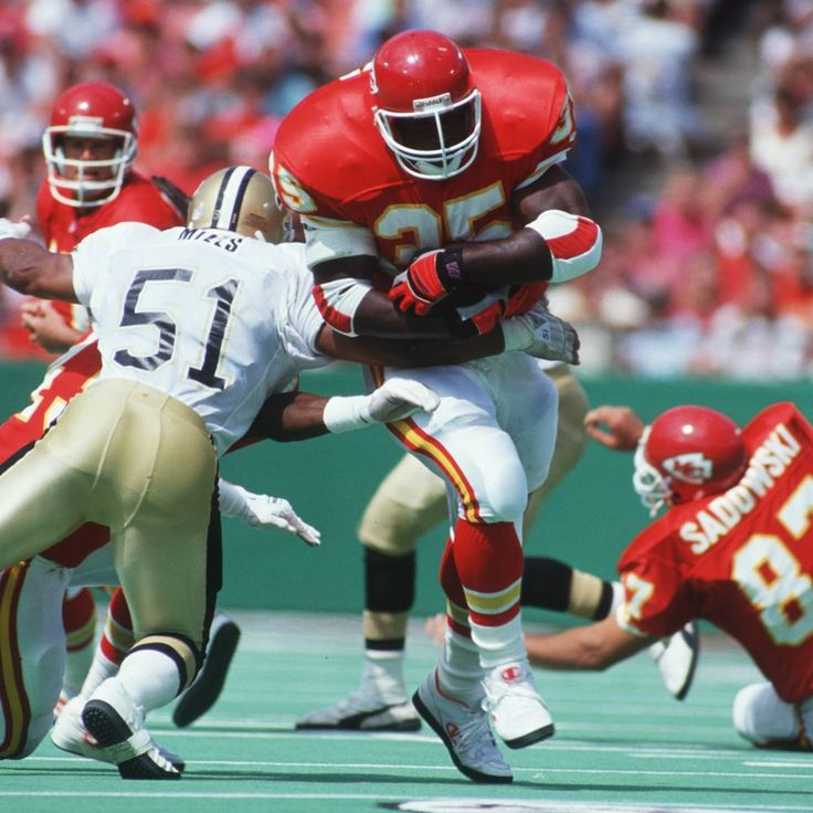 Christian Okoye was a monster. I'll never forget the hit Steve Atwater put on him while mic'd up. He stopped the Nigerian Nightmare dead in his tracks.