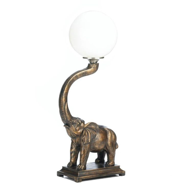 Art Deco Trumpeting Elephant Globe Lamp