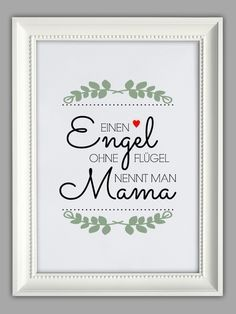"""ENGEL MAMA"" Kunstdruck von Smart-Art Kunstdrucke auf DaWanda.com"
