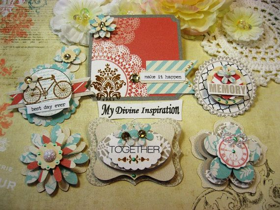 Teresa Collins Memories Handmade Paper Embellishments and Paper Flowers for Scrapbook Layouts Cards Mini Albums and Paper Crafts