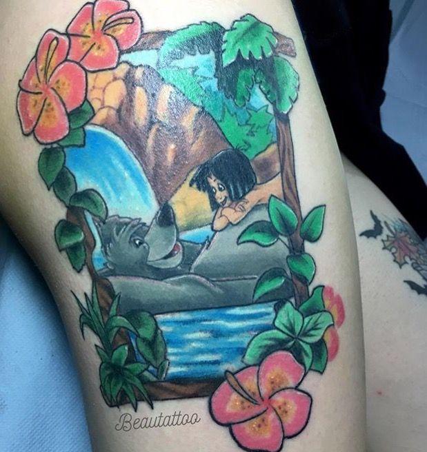 Jungle Book tattoo done by the beautiful Beau at Blue Cardinal Tattoo