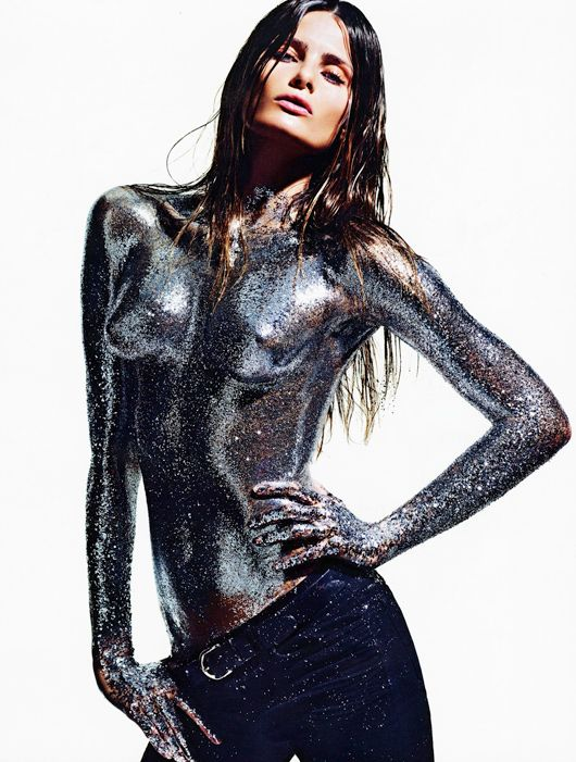 The stunning Brazilian model Isabeli Fontana creates a stir in the pages of Vogue Paris August '12 issue with an extreme beauty editorial shot by Mario Sorrenti with make-up by Dior's Yadim & Violette.
