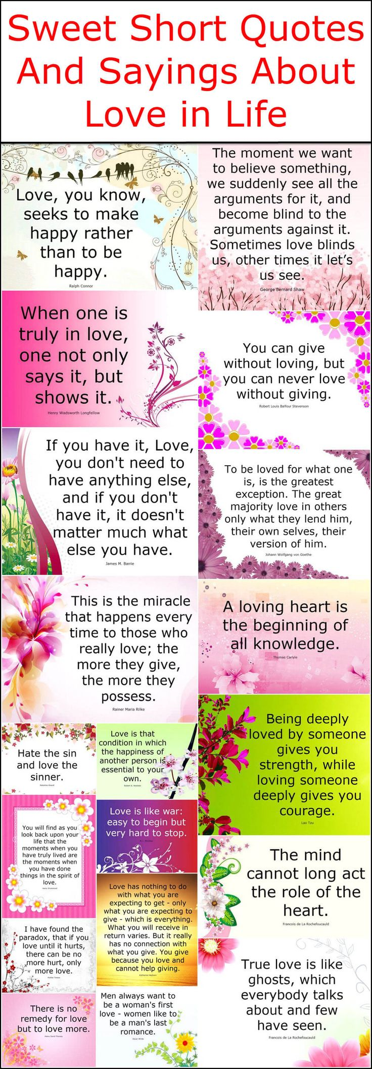 Here we are bringing to you another wonderful post of few amazing and lovely quotes that will change your life positively. These sweet and lovely short quotes and sayings will reveal you the importance of love in your life. These love posters are not only best to express our own feelings and emotions to us in the form of words but also good-enough to increase our knowledge. Let's change your priorities and show your attention and care to your loved one to make your life happier and full of…