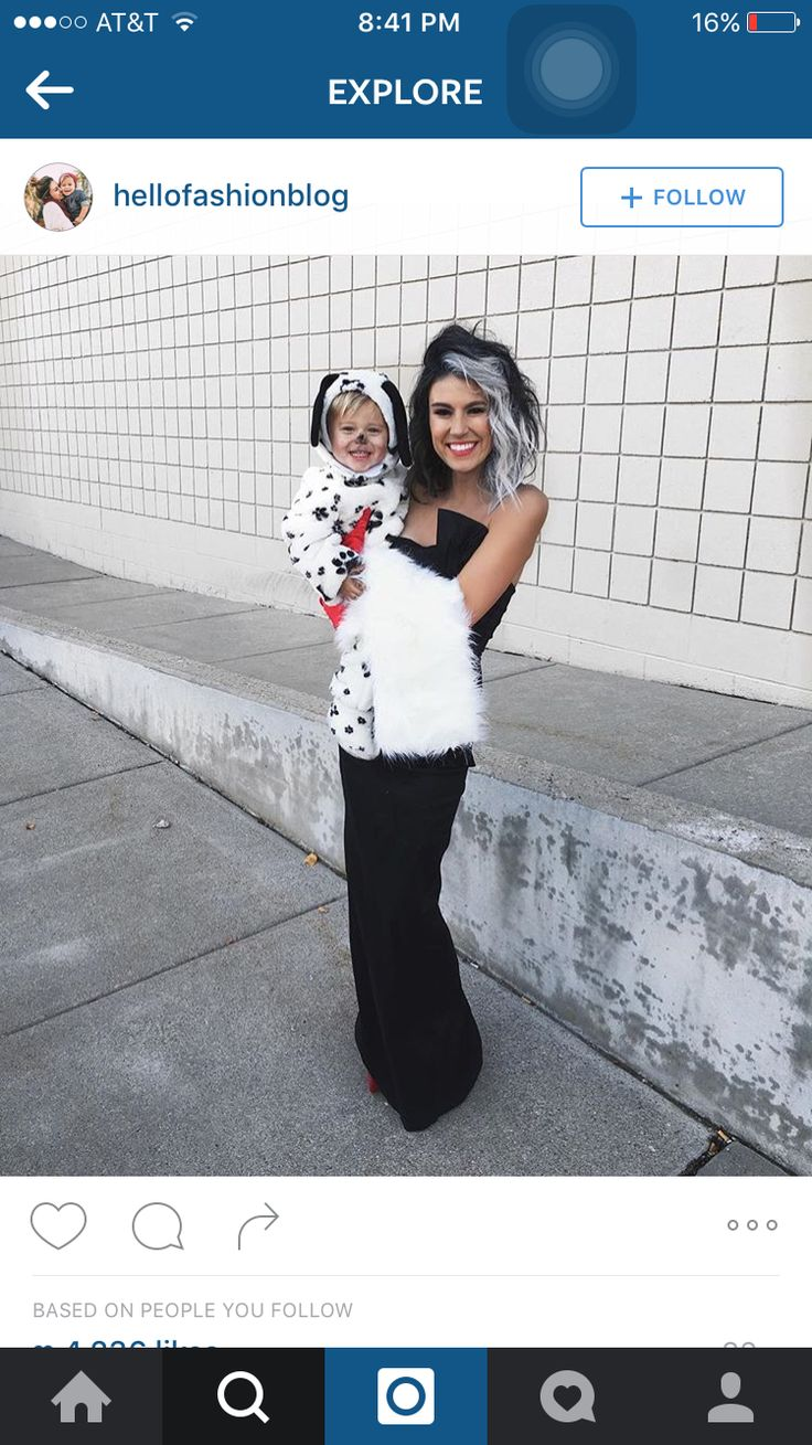 Cute mother and daughter/son costume.