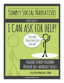 Many students do not ask for help when stuck.  This may be because they feel lost, anxious, embarrassed, overwhelmed, or they simply do not know how to ask.  Use this high-quality social narrative to help teach students how to ASK FOR HELP and get UNSTUCK...