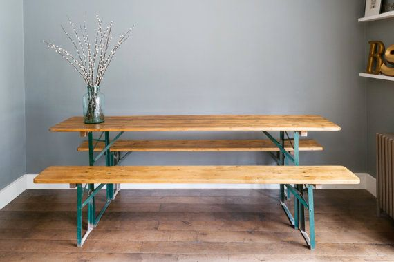 German beer table and benches by BsYard on Etsy