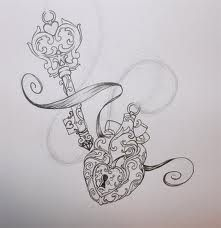Heart .&. Key locket tattoo .... although I'd make a few changes first!