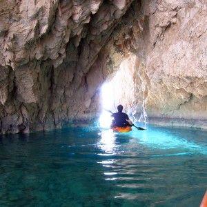 Kayak adventure tour to the Keri Caves of Zakynthos