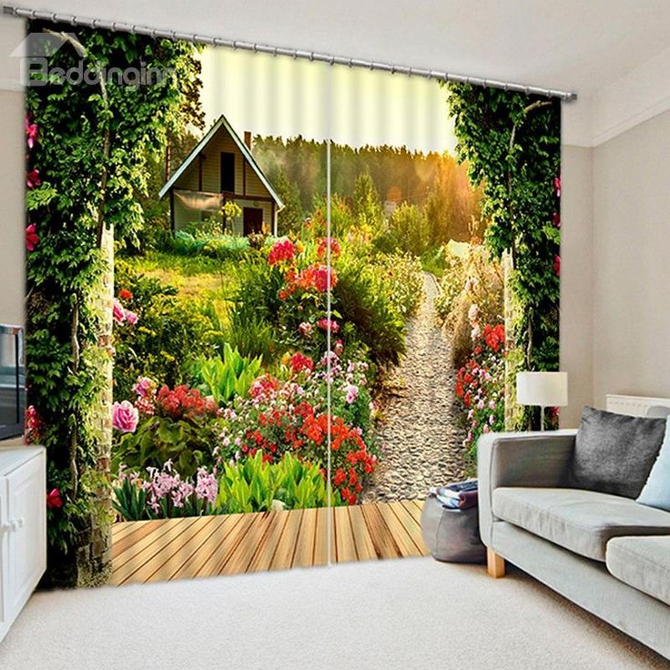 Scenery Curtains 166 best 3d curtains images on pinterest | curtains, blackout