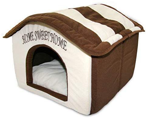 Amazon Com Portable Indoor Pet House Best Supplies Cream Pet Supplies Dog House Bed Dog Bed Cool Dog Beds