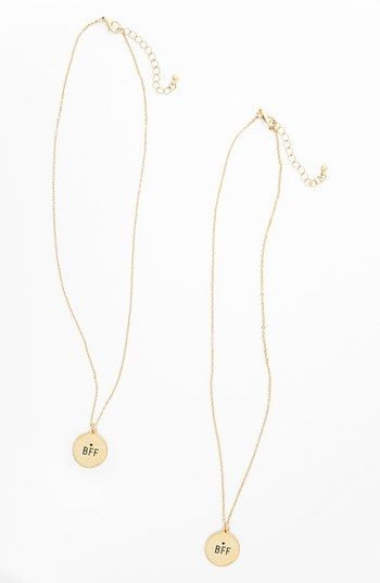 BFF necklaces for you & your best friend<3 $16 Get 5% cash back http://stackdealz.com/deals/Nordstrom-Coupon-Codes-and-Discounts--/