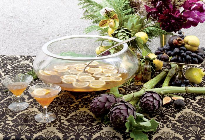 Carriage House Punch from Damon Boelte of Prime Meats in New York. Scandinavian glass punch bowl, $20, from...