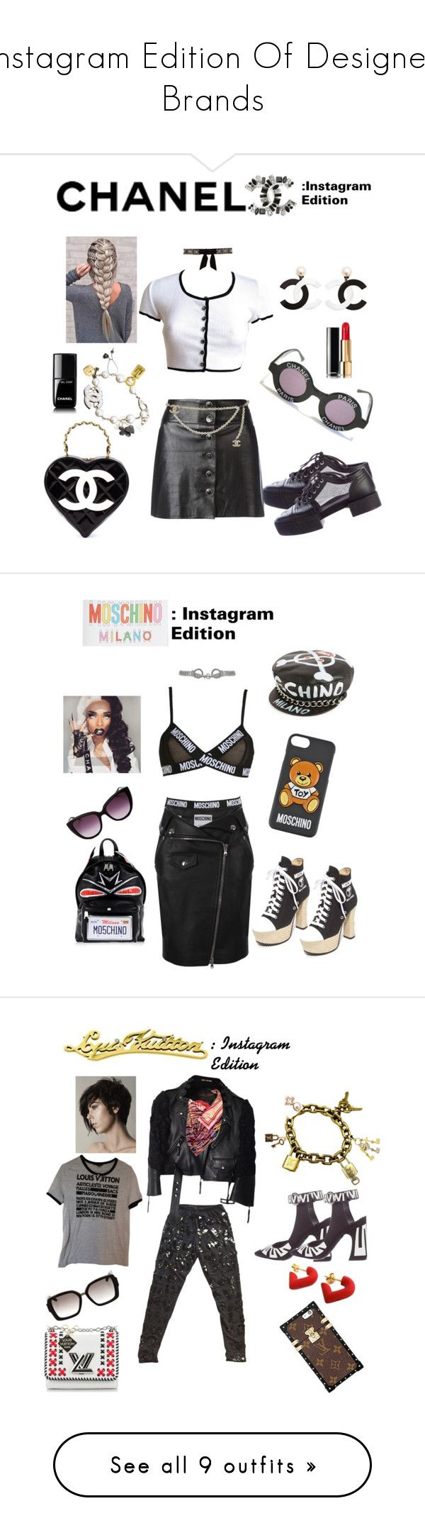 """Instagram Edition Of Designer Brands"" by libra-rima ❤ liked on Polyvore featuring Chanel, Moschino, Louis Vuitton, Fendi, Steve Madden, Humble Chic, NIKE, Balenciaga, Levi's and TILDA BIEHN"