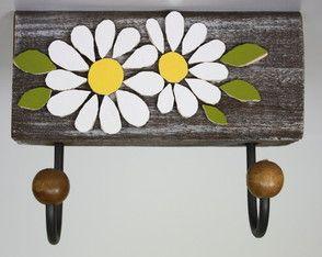 Cabideiro em mosaico Antigo flor                                                                                                                                                                                 Mais