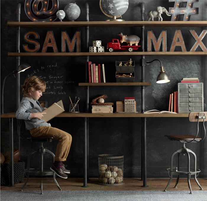 Restoration Hardware Industrial children's room