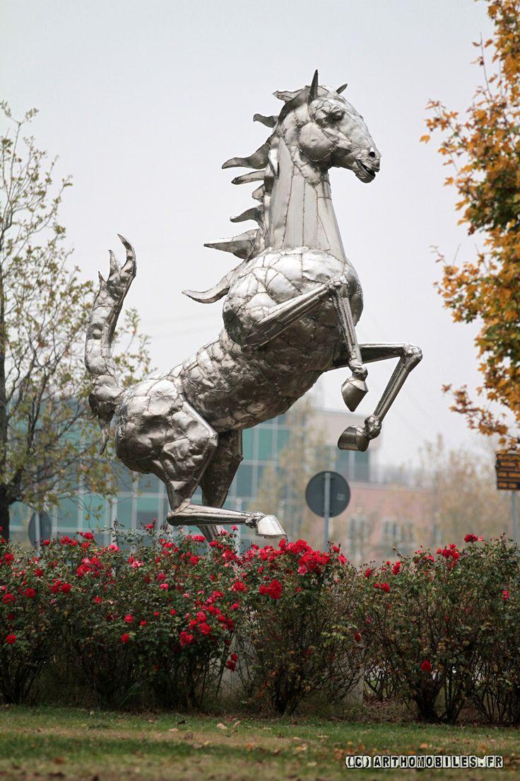 Ferrari Prancing Horse sculpture - Ferrari Headquarters - Maranello, Italy   The artist Helidon Xhixha