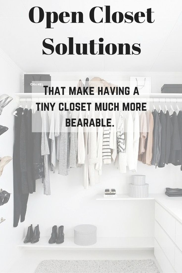 Open Closet Solutions. — because East Coast living = tiny closets. HerBearings