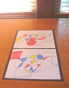 Miro art project for kids. Easy beginning of the year project!