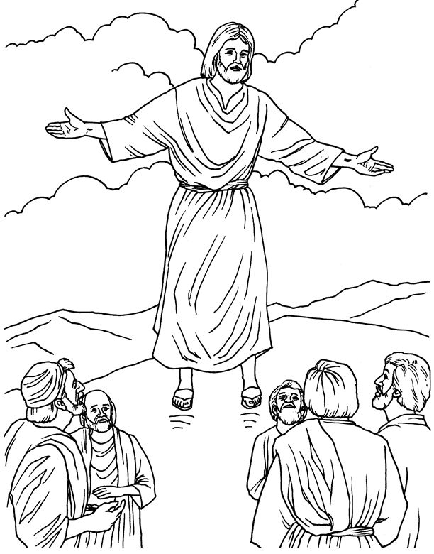 ascension of mary coloring pages - photo#8