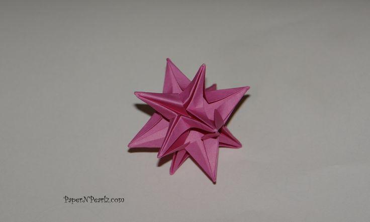 #Origami Omega Star by John Montroll