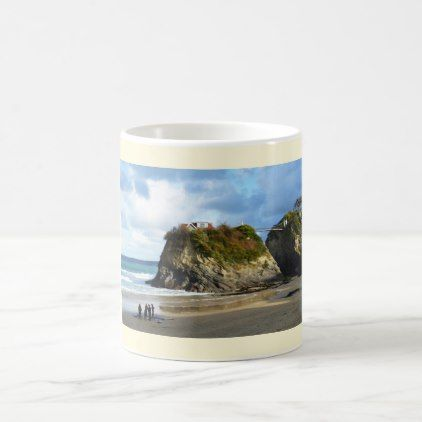 Newquay beach in Cornwall Coffee Mug - winter gifts style special unique gift ideas