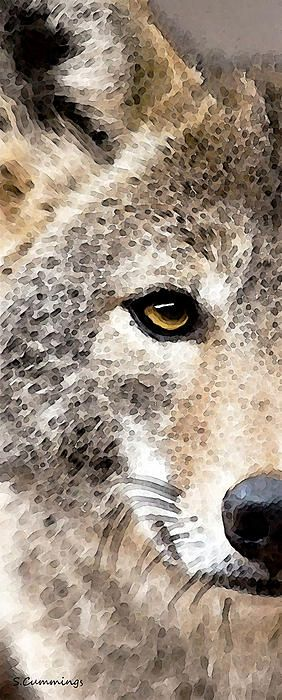 Wolves Art - Lone Wolf Painting by Sharon Cummings - Wolves Art - Lone Wolf Fine Art Prints and Posters for Sale