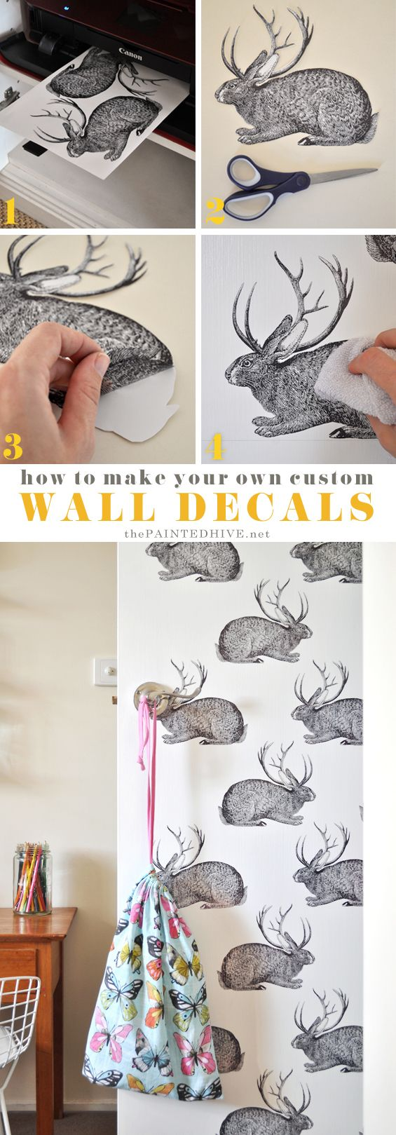 So cool - super affordable DIY decal tutorial that anyone can try!