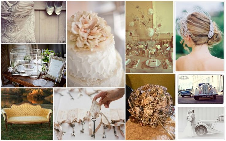 Antique Wedding Bouquets | Vintage Style: Country vs. Elegant - Amy's Wedding & Events :: San ...