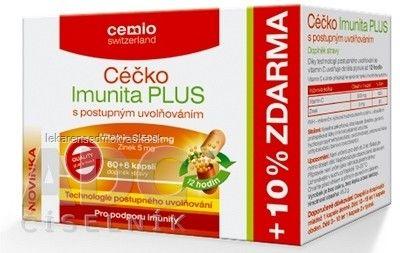 Cemio Céčko Imunita PLUS - cps s postupným uvoľňovaním 60+6 (10% zadarmo) (66 ks)