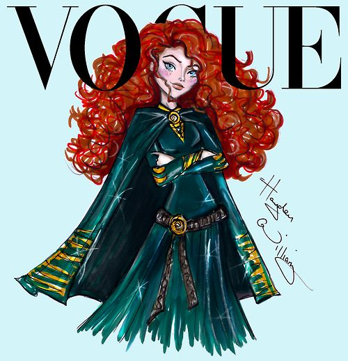 Disney Divas for Vogue by Hayden Williams: Merida ❥|Mz. Manerz: Being well dressed is a beautiful form of confidence, happiness & politeness