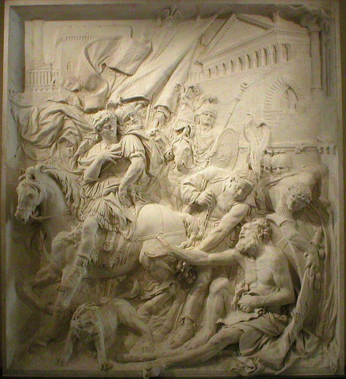 Puget - La rencontre de Diogene de Sinope et d'Alexandre Louvre - Architecture classique