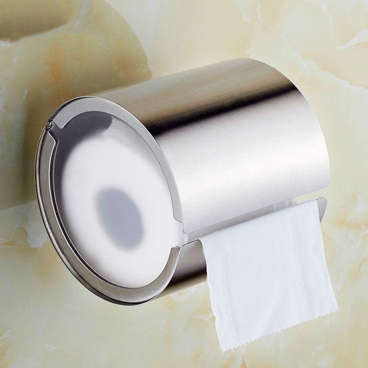304 Stainless Steel Bathroom Towel Rack Cylinder Creative Roll Toilet Paper Holder Box #Affiliate