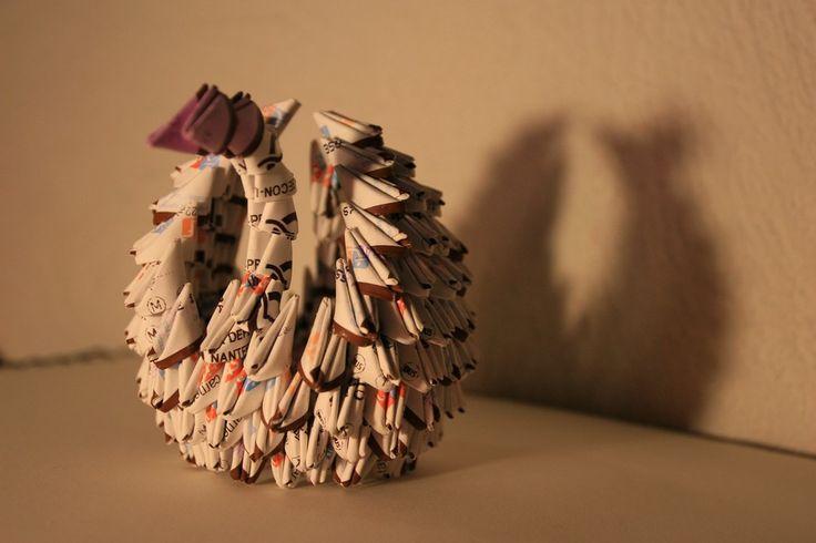 Origami modulaire cygne